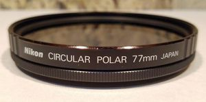 Genuine NIKON 77mm Circular Polarizing Filter. Made in Japan! for Sale in Roy, UT