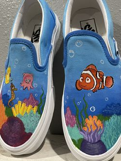 Hand Painted Shoes Or Vans! Disney Pixar Finding Nemo, Dragon Ball Z, Pocahontas, Belle, Hercules And More! for Sale in Riverside,  CA