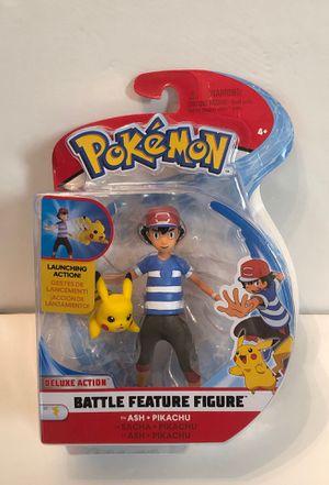 Pokémon Ash & Pikachu Deluxe Action Battle Feature Figure for Sale in Las Vegas, NV