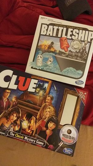CLASSIC BOARD GAMES!! CLUE & BATTLESHIP for Sale in Brentwood, CA