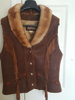Women's Vest. Genuine leather 4/6. $56.00 for Sale in Annandale, VA