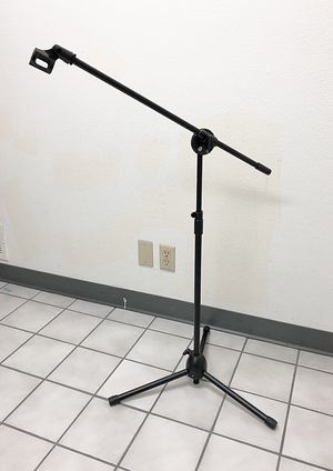 New $13 Microphone Boom Stand Mic Clip Holder Studio Arm Adjustable Foldable Tripod for Sale in South El Monte, CA