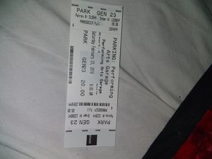 Parking Pass: Performing Arts Garage...Sat, Feb 23rd - 9am for Sale in San Francisco, CA