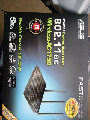 Asus router wireless ac1750 for Sale in Nashville, TN