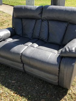 Leather, Grey, Recliner for Sale in Orlando,  FL