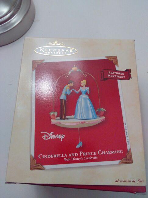 Hallmark keepsake ornament Cinderella and Prince charming made in 2003