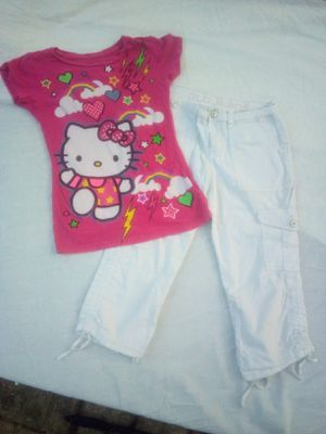 Girl's Hello Kitty Shirt and Pant Set Size 10 for Sale in Kennedale, TX