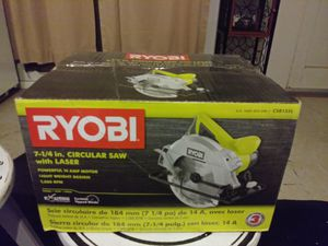 """New Ryobi 7 1/4"""" Saw with Laser for Sale in Jurupa Valley, CA"""