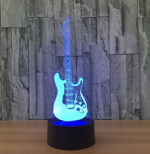 """Rare Electric Guitar 9"""" 3D LED Desk Lamp-night Light for Sale in Lowellville, OH"""