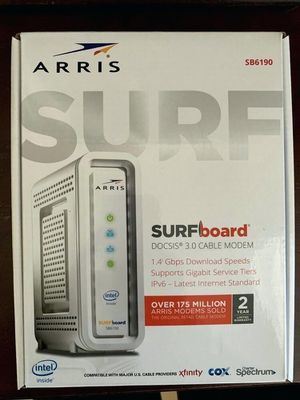 Arris Surfboard Router (SB6190) 1.4Gbps + 32 x 8 Modem Channels for Sale in Escondido, CA