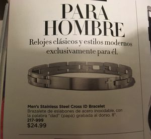 Mens Stainless Steel Cross ID Bracelet for Sale in Oxon Hill, MD