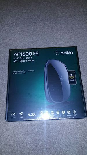 Belkin AC1600 WiFi dual band ac+ gigabit router for Sale in Beaverton, OR