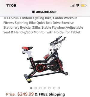Fitness Spinning Bike with LCD Monitor Holder for Tablet for Sale in Dayton, TN