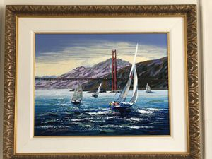 San Francisco Bay Sail Boat Painting for Sale in Los Angeles, CA