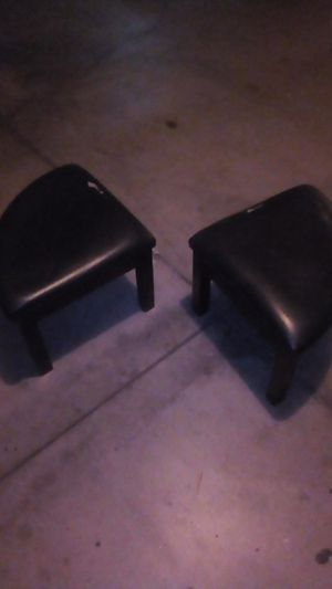 2 wooden Stools with padded seating for Sale in Glendale, CA