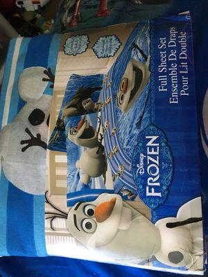 Disney's Olaf frozen sheet set for Sale in Browns Mills, NJ