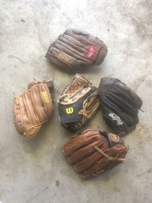 Baseball gloves $30 for all for Sale in San Antonio, TX
