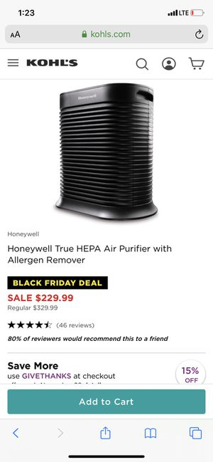Honeywell air purifier for Sale in Los Angeles, CA