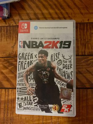 NBA 2K19 for Nintendo Switch for Sale in Tucson, AZ