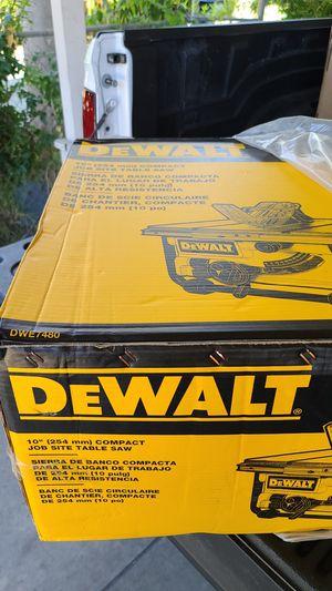 Dewalt dwe7480 brand new table saw for Sale in El Monte, CA