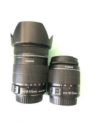 Canon lenses 18-55 is 18-135 is for Sale in Las Vegas, NV