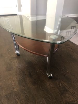 BRAND NEW triangular glass coffee table for Sale in Downers Grove, IL