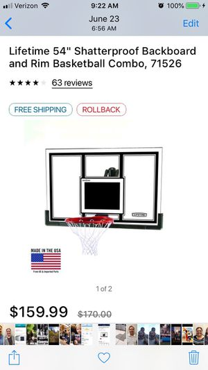 Lifetime basketball backboard, hoop, mounting kit and accessories. New in the box for Sale in Murray, UT