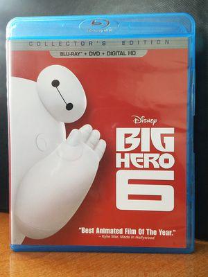 Big Hero 6 Disney Pixar Animated Blu-Ray + DVD Family Kids Movie for Sale in Tampa, FL