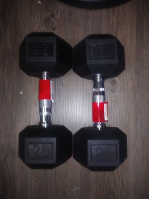 2 Brand New 25lb Dumbbells for Sale in San Antonio, TX
