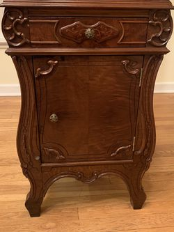 Antique End Table With Cabinet And Drawer for Sale in Westbury,  NY