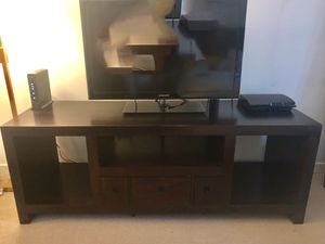 Wood sideboard/console/table/tv stand/storage/media/table for Sale in Chicago, IL