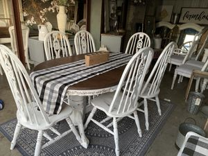 Farmhouse Style Table with 6 Matching Chairs for Sale in Murfreesboro, TN