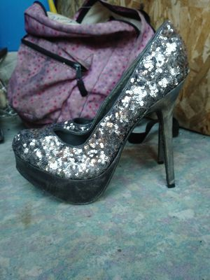 Size 9 high heel shoes with sequins for Sale in American Canyon, CA