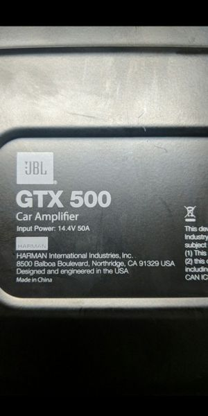 JBL GTX500 mono amplifier for Sale in Palm Beach Gardens, FL
