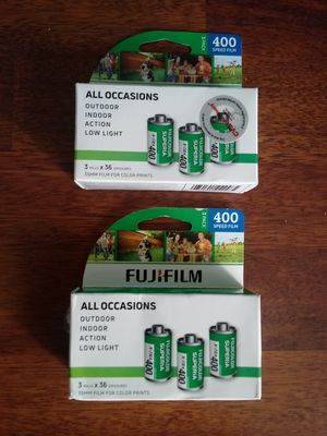(2) 3-packs Fujifilm 400 Gently Expired for Sale in Montclair, CA