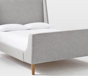West Elm Upholstered Sleigh Bed - Queen for Sale in San Carlos,  CA
