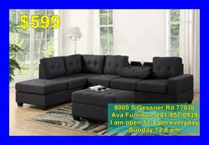 sectional sofa + ottoman $599 for Sale in Houston, TX