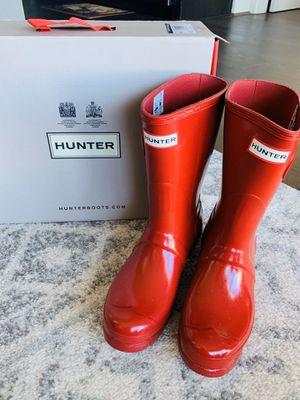 Women. Red Hunter Rain boots Size 7 US for Sale in Dallas, TX