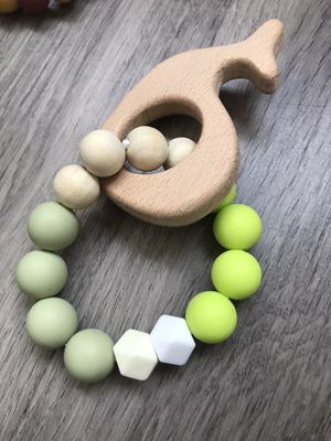 %100 organic natural baby teething ring for Sale in Johnson City, NY