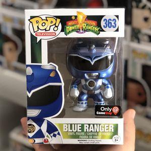 Funko Pop - BLUE RANGER METALLIC - GameStop Exclusive - Power Rangers for Sale in Rowland Heights, CA