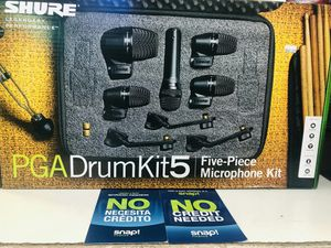 Shure pgadrumkit5 on sale today message us for the best deals for Sale in Lakewood, CA