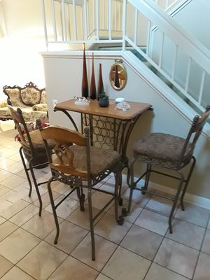 Kitchen table and 3 chairs. Bar table and 3 chairs. Call or Text {contact info removed}. Leave message if no answer. for Sale in Modesto, CA