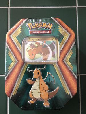 $12 Pokemon Dragonite Tin Box - Sealed W/3 Booster Packs In Tin for Sale in Las Vegas, NV