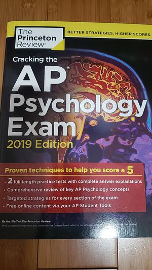 Cracking the AP Psychology Exam 2019 Edition by the Princeton Review for Sale in Ontario, CA