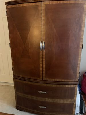 Brown Wood Armoire for Sale in Clarksburg, MD