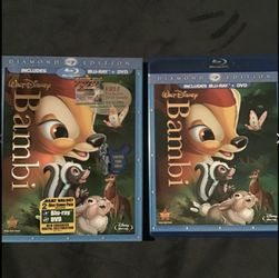 Bambi [Two-Disc Diamond Edition Blu-ray/DVD Combo] + Running Wild, 3 DVDs for Sale in Denver,  CO