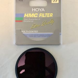 Hoya 77mm ND8-3 Stop Neutral Density Filter with Hoya 72mm-77mm Step-up Ring for Sale in Virginia Beach, VA