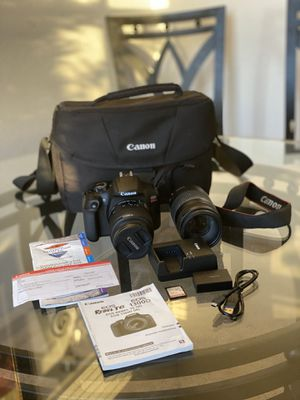 Canon Rebel EOS T6 Digital SLR Camera EF-S 18-55mm & 75-300mm Lens w/Bag BUNDLE Accessories Kit for Sale in Delray Beach, FL