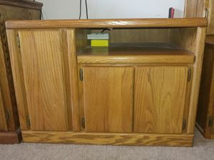 Nice wood tv stand entertainment center 36wide x24x24 for Sale in Wichita, KS