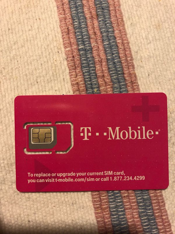 Extra T-Mobile SIM card came with phone replacement 15.00